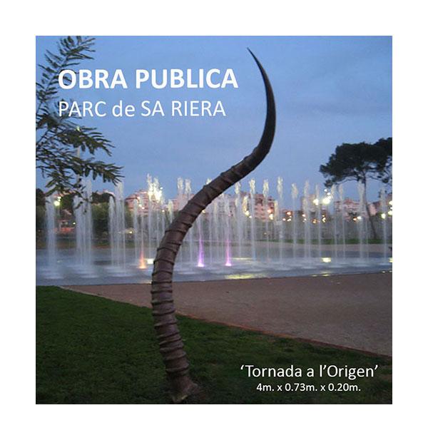 Obra pública Pilar Cerdà escultura 'Tornada a l'origen'